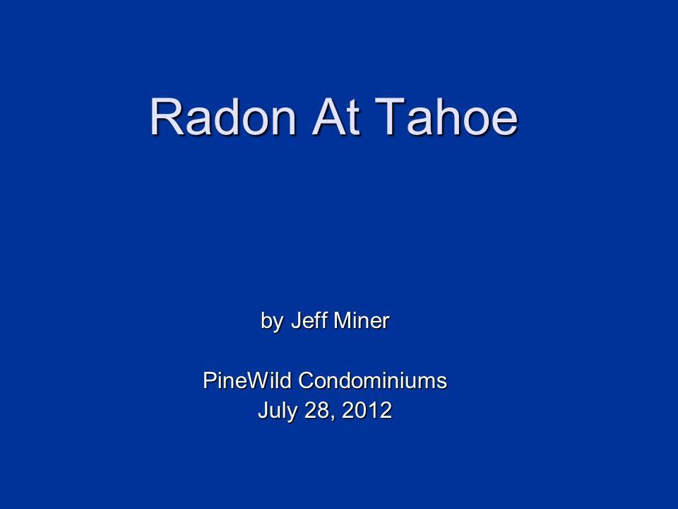 Radon At Tahoe Health