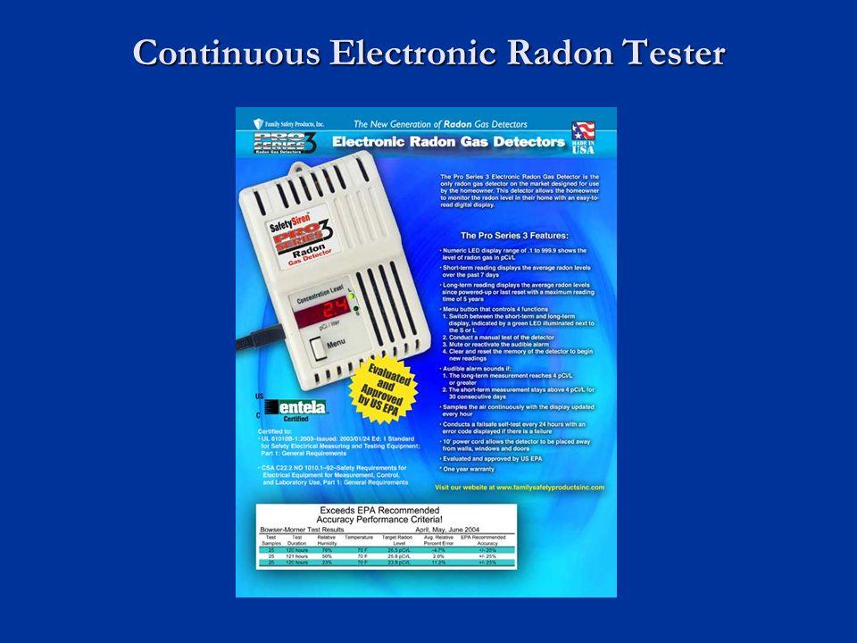 Continuous Electronic Radon Tester