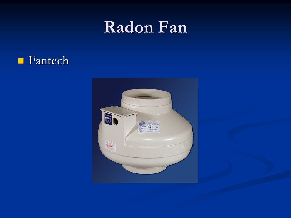 Radon Fan Fantech Fantech