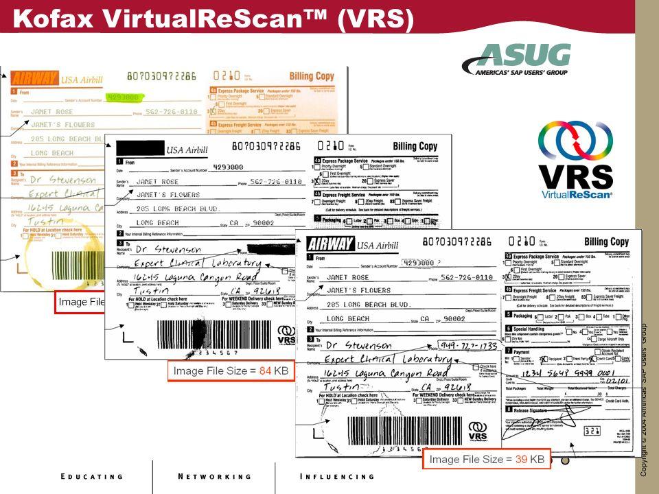 Image File Size = 213 KB Kofax VirtualReScan (VRS)