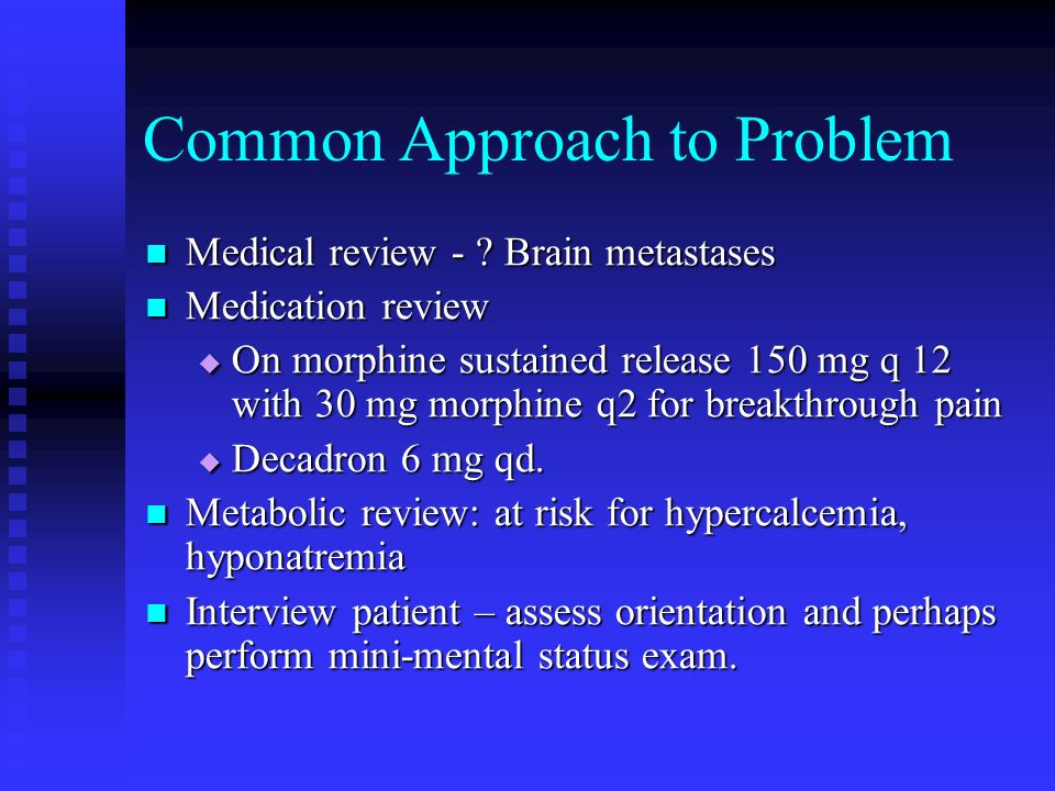 Key Questions regarding altered states What is the prognosis and dying trajectory.