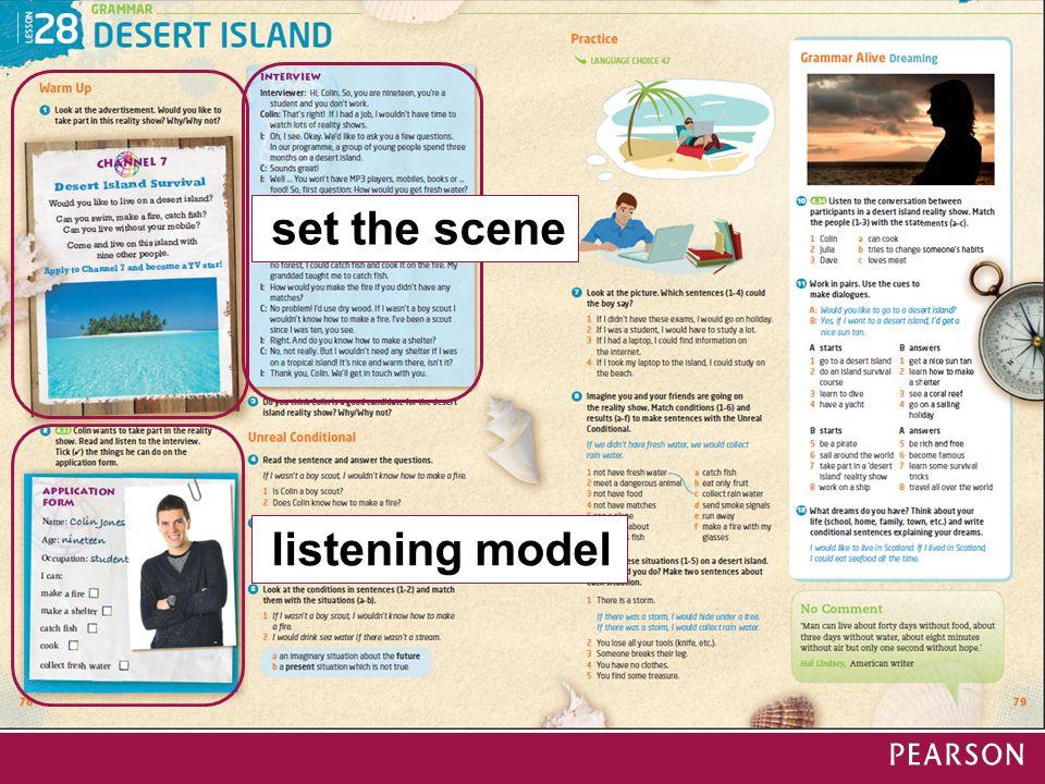 listening model set the scene