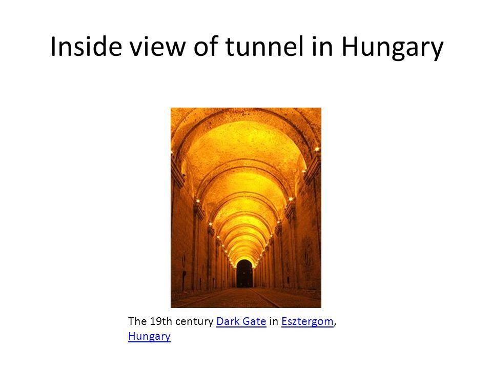 Inside view of tunnel in Hungary The 19th century Dark Gate in Esztergom, HungaryDark GateEsztergom Hungary