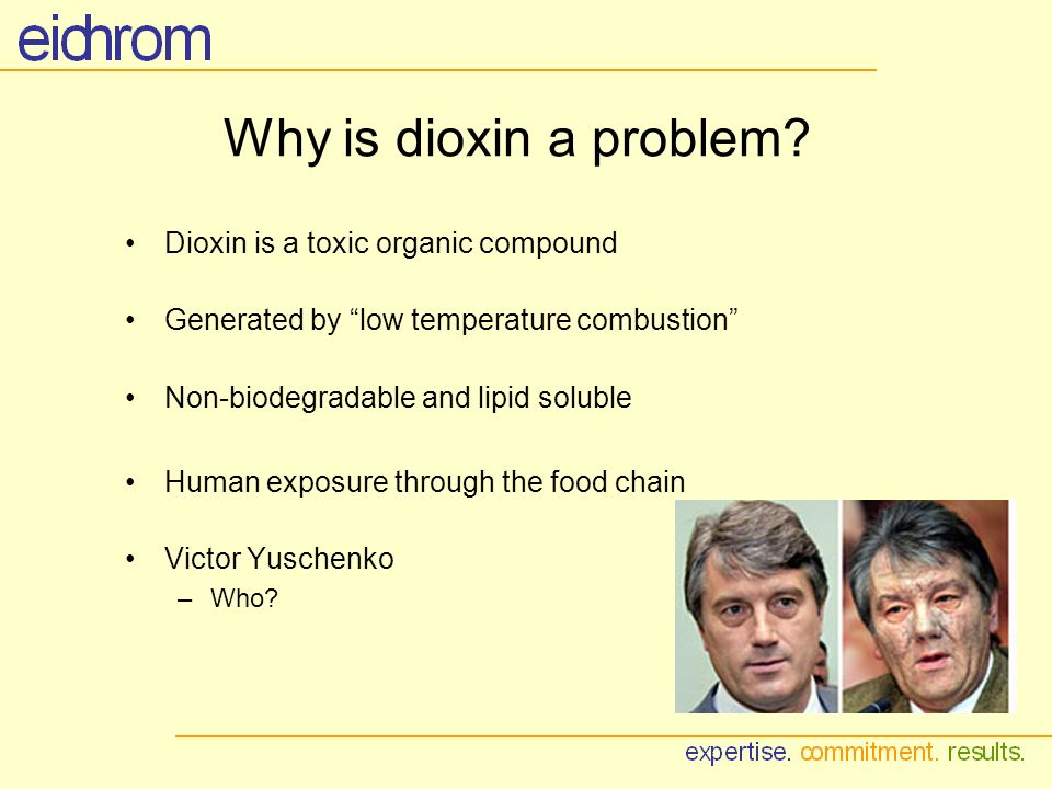 Why is dioxin a problem.