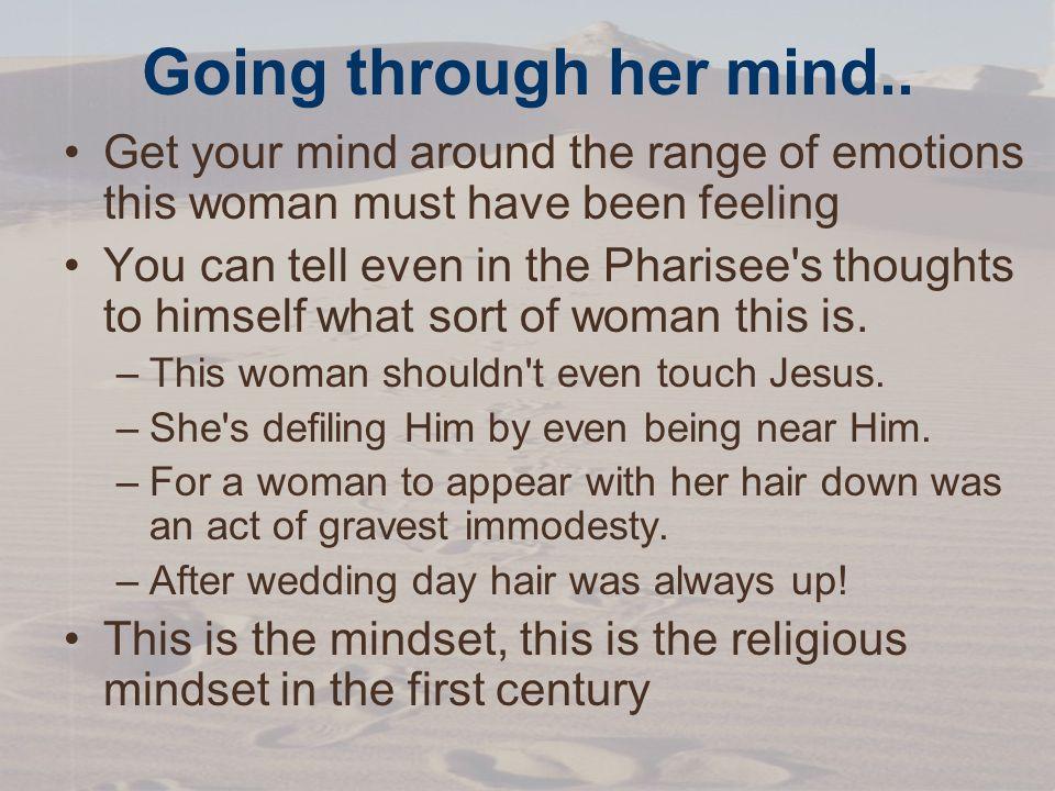 Going through her mind..