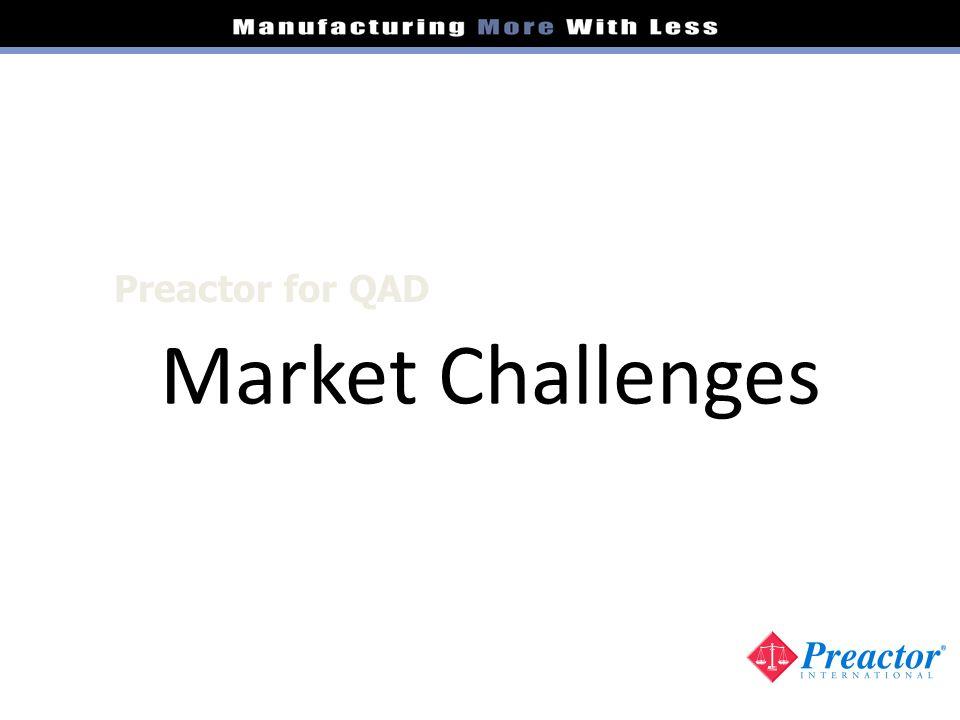Market Challenges Preactor for QAD