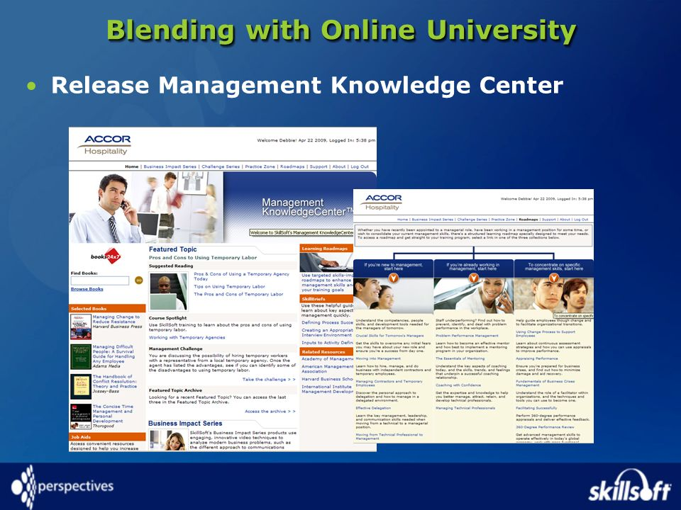 Blending with Online University Release Management Knowledge Center