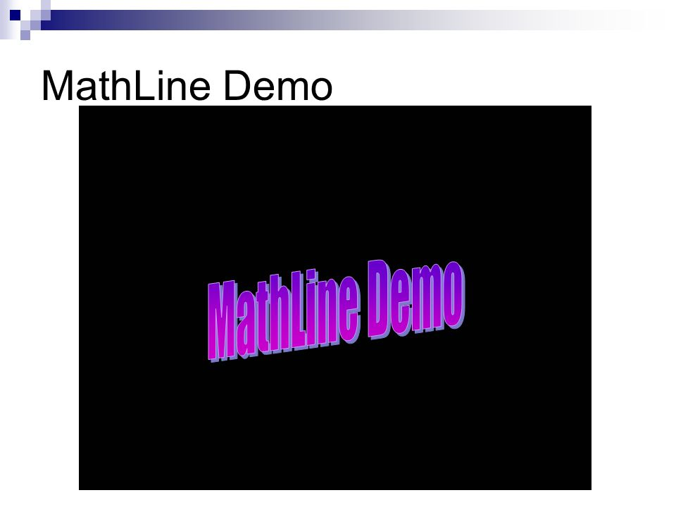 MathLine Demo