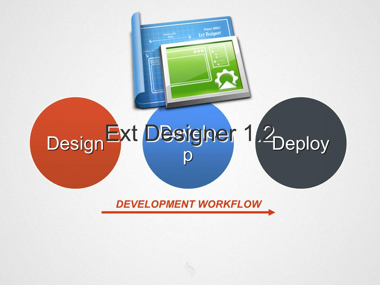 Design Develo p Deploy DEVELOPMENT WORKFLOW Ext Designer 1.2