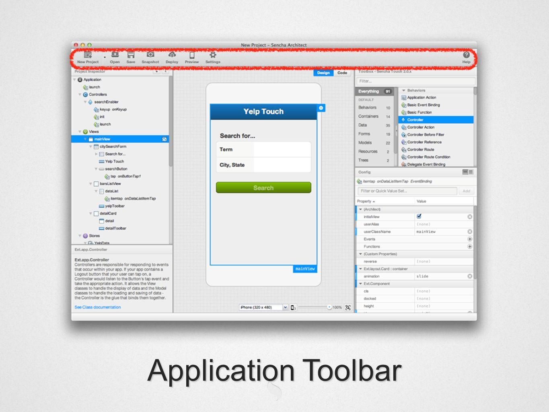 Application Toolbar