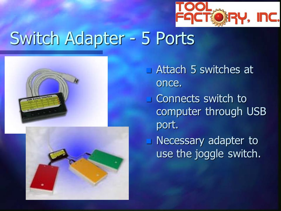 Switch Adapter - 5 Ports n Attach 5 switches at once.