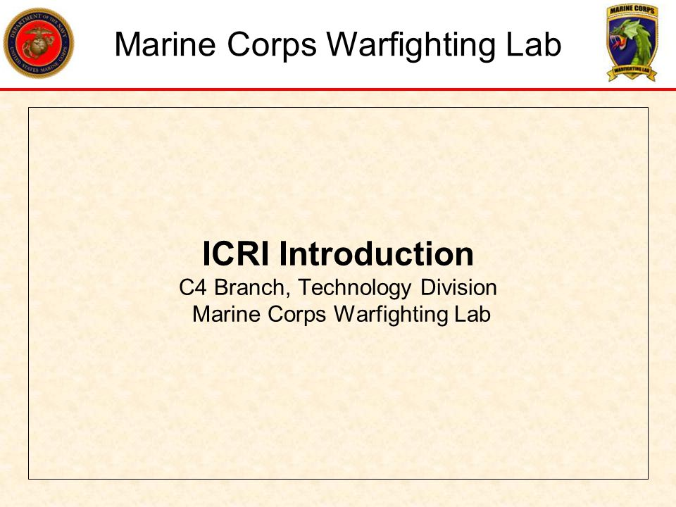 What is ICRI –Incident Commanders Radio Interface A Rapidly Deployable, Coalition Communication Interoperability solution This unit performs two primary functions –Distributes audio received from radios to other radios connected through the unit.