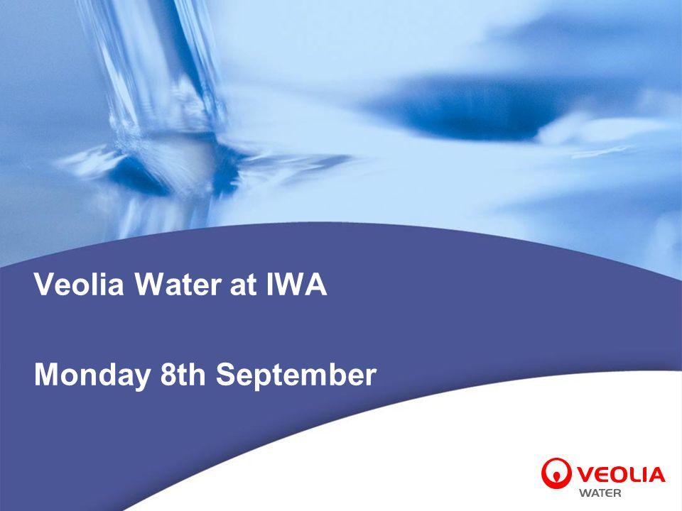 Veolia Water at IWA Monday 8th September