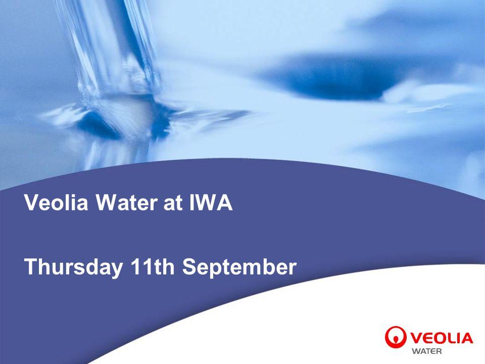 Veolia Water at IWA Thursday 11th September