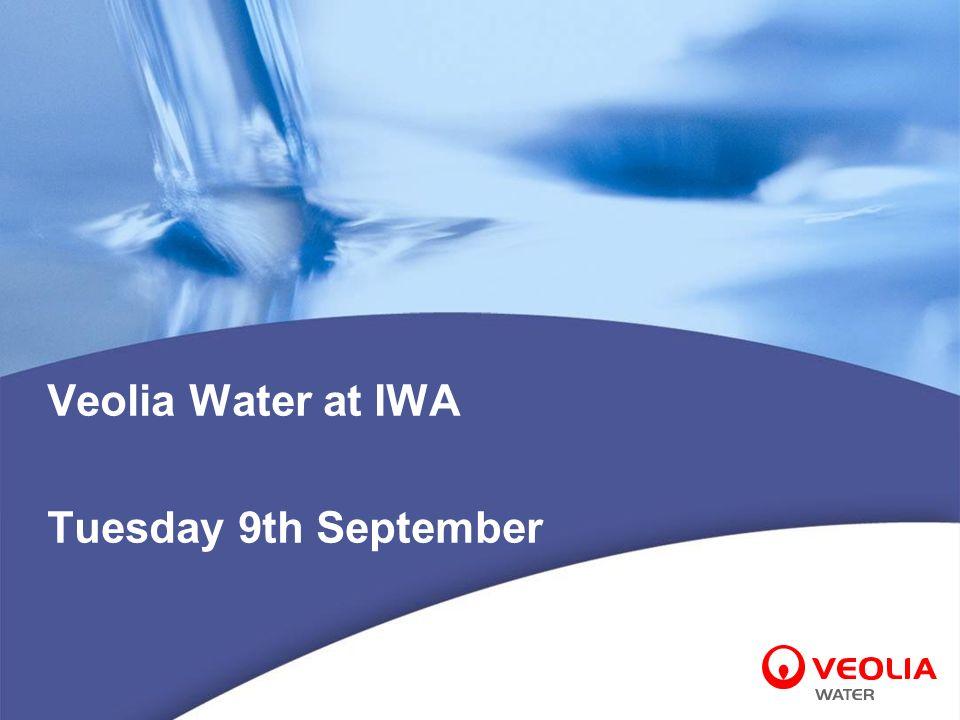Veolia Water at IWA Tuesday 9th September