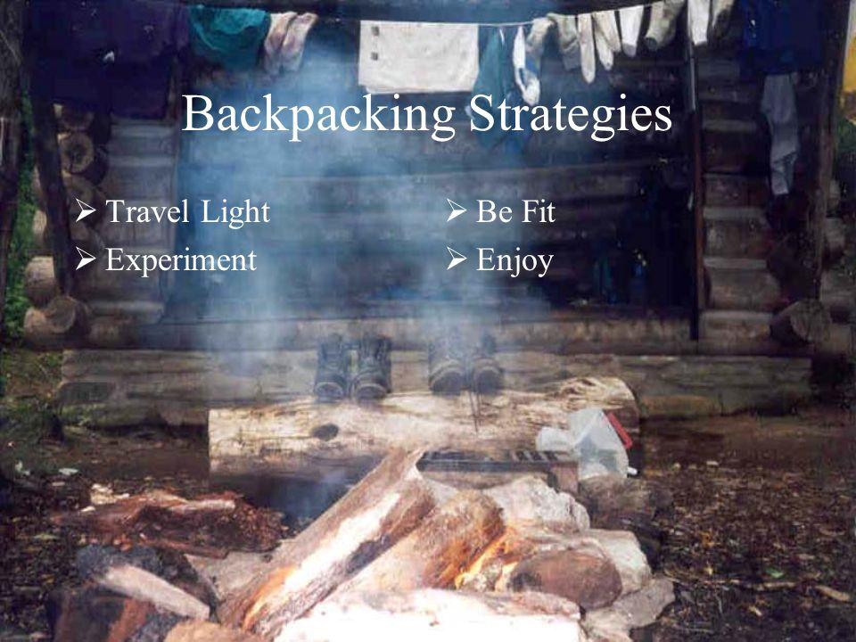 Backpacking Strategies