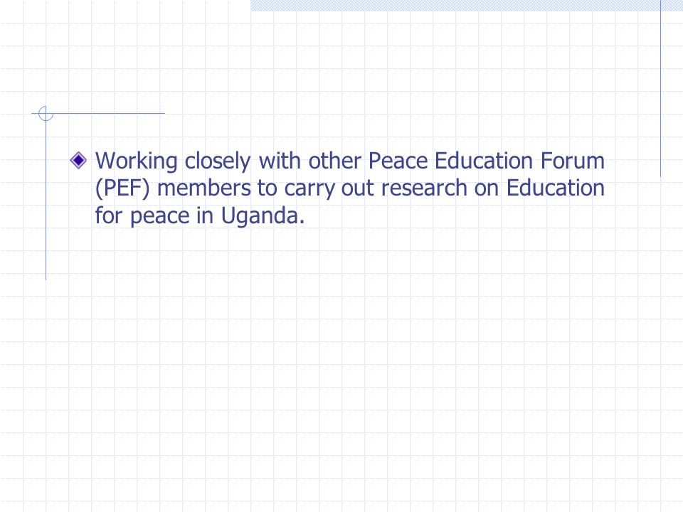 Projects Newsletter A Peace Voice of the Youth in schools where they share and exchange views about conflict and peace building in their schools and c