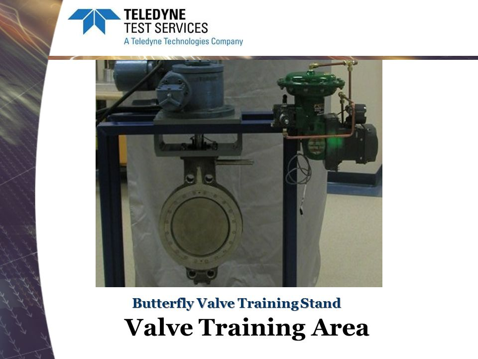 Butterfly Valve Training Stand Valve Training Area