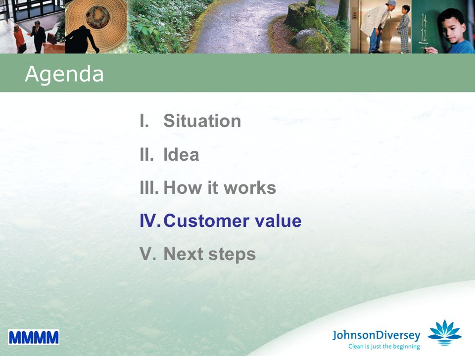 30 Agenda I.Situation II.Idea III.How it works IV.Customer value V.Next steps