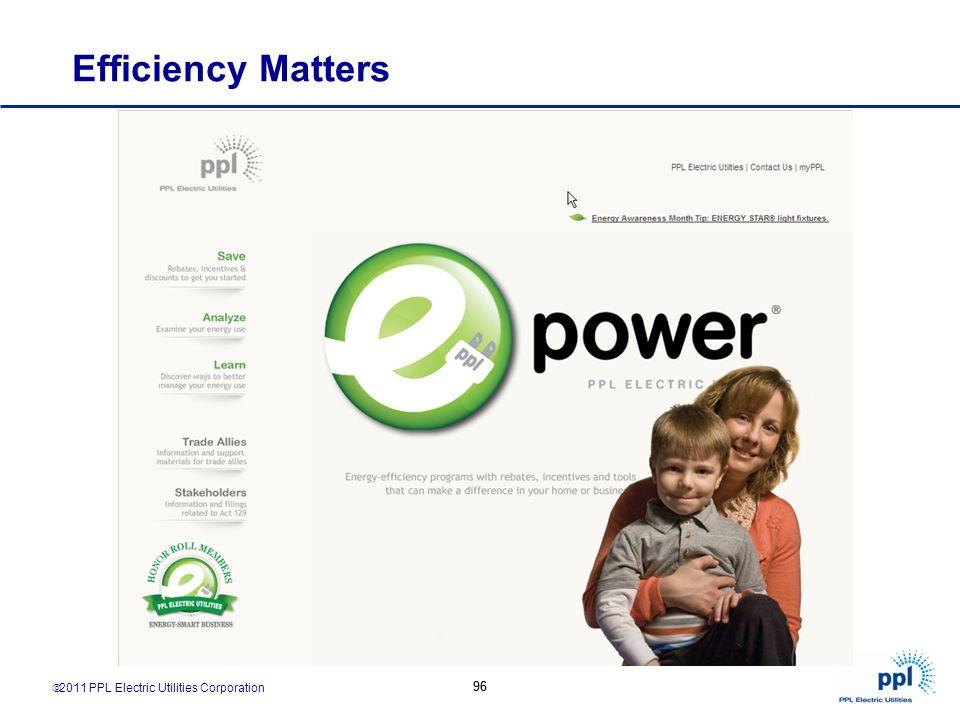 2011 PPL Electric Utilities Corporation 96 Efficiency Matters