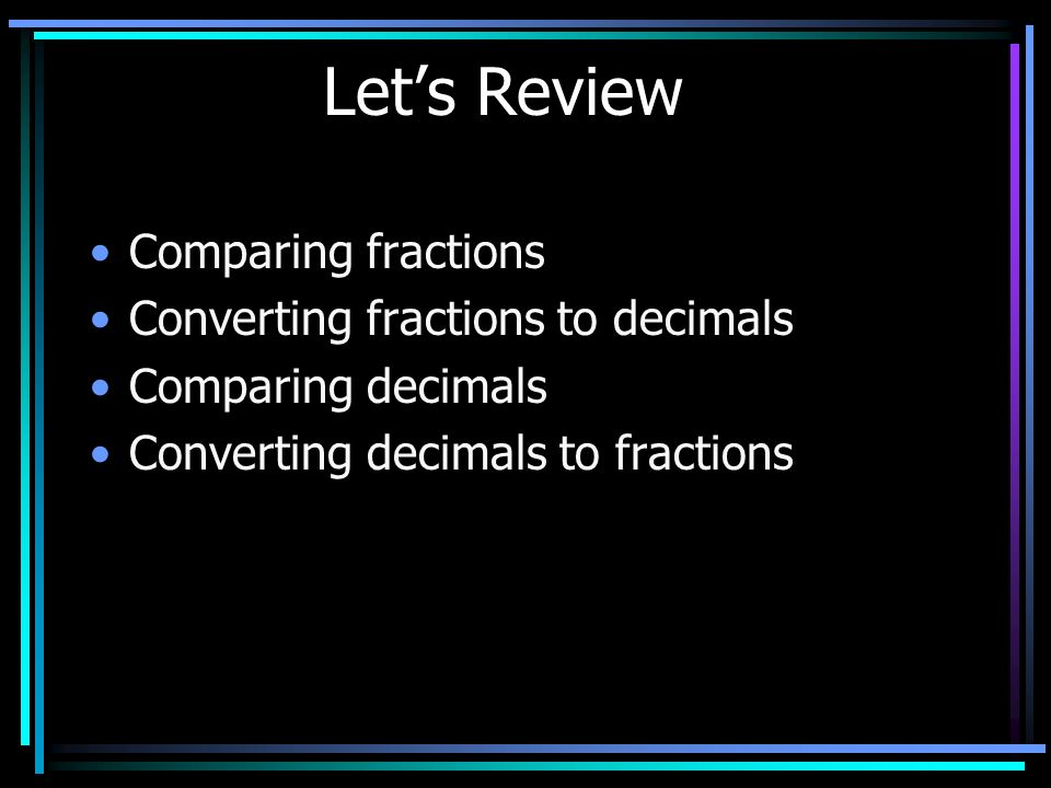 Fractions and Decimals Discovery Math: Number Theory (3-5) Discovery Channel School. 2005 http://www.unitedstreaming.com/>http://www.unitedstreaming.c