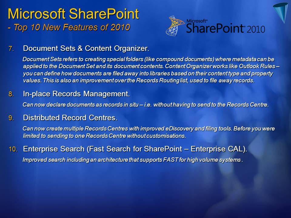 7.Document Sets & Content Organizer.