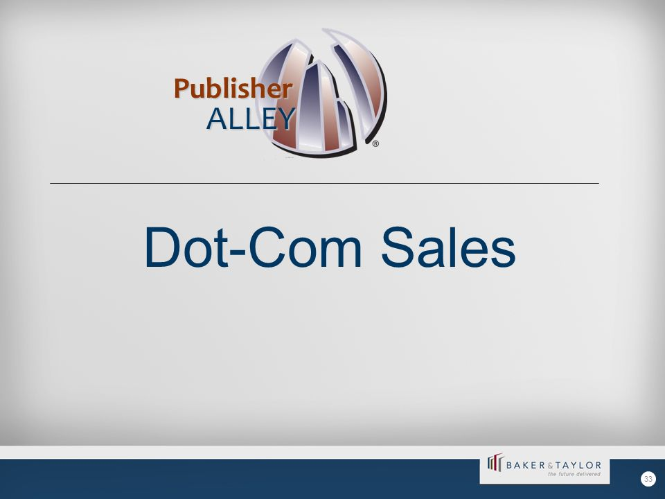 Dot-Com Sales Publisher ALLEY 33