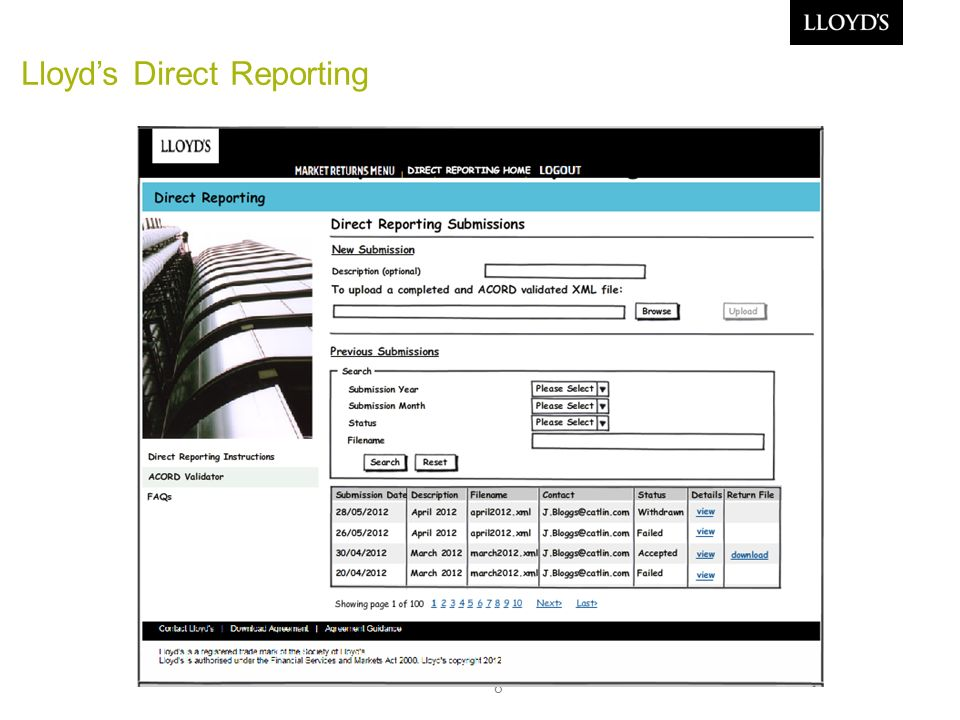 8 Lloyds Direct Reporting