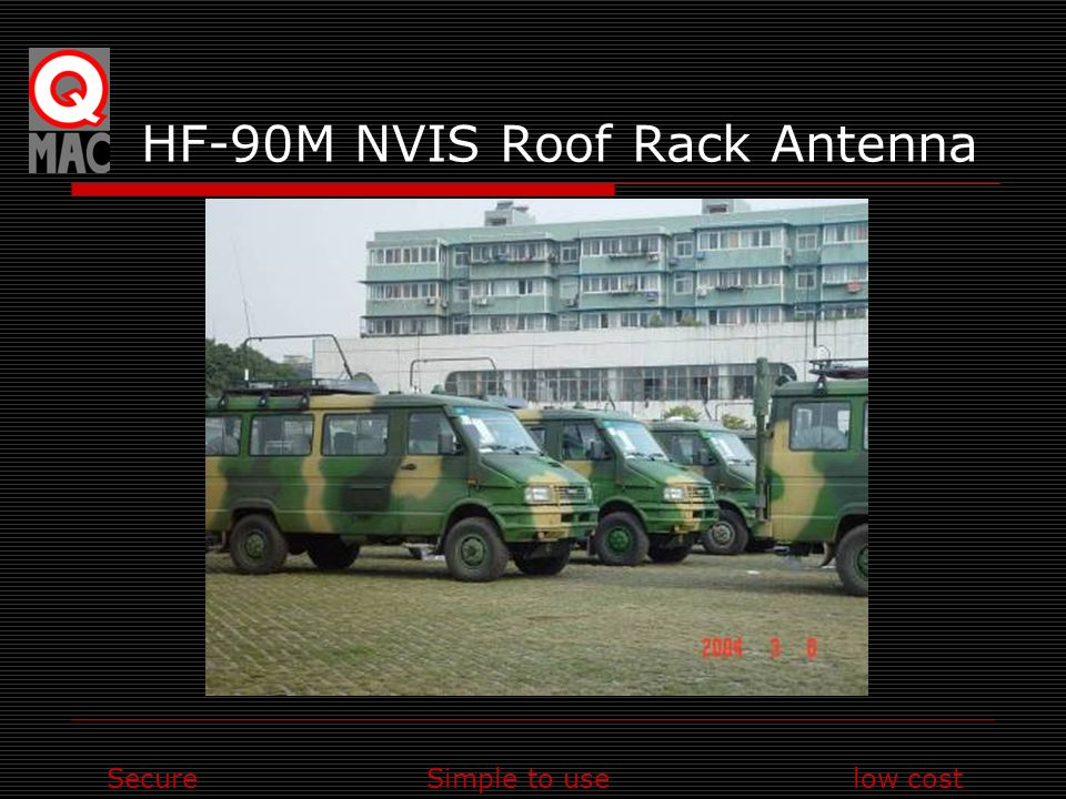 SecureSimple to uselow cost HF-90M NVIS Roof Rack Antenna