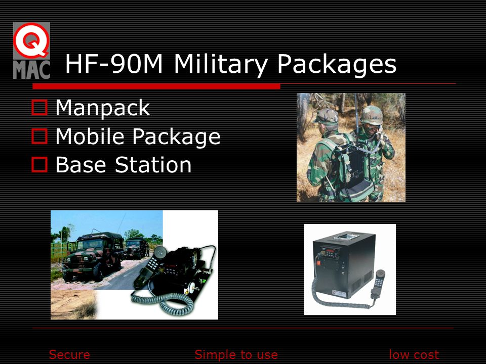 SecureSimple to uselow cost HF-90M Military Packages Manpack Mobile Package Base Station