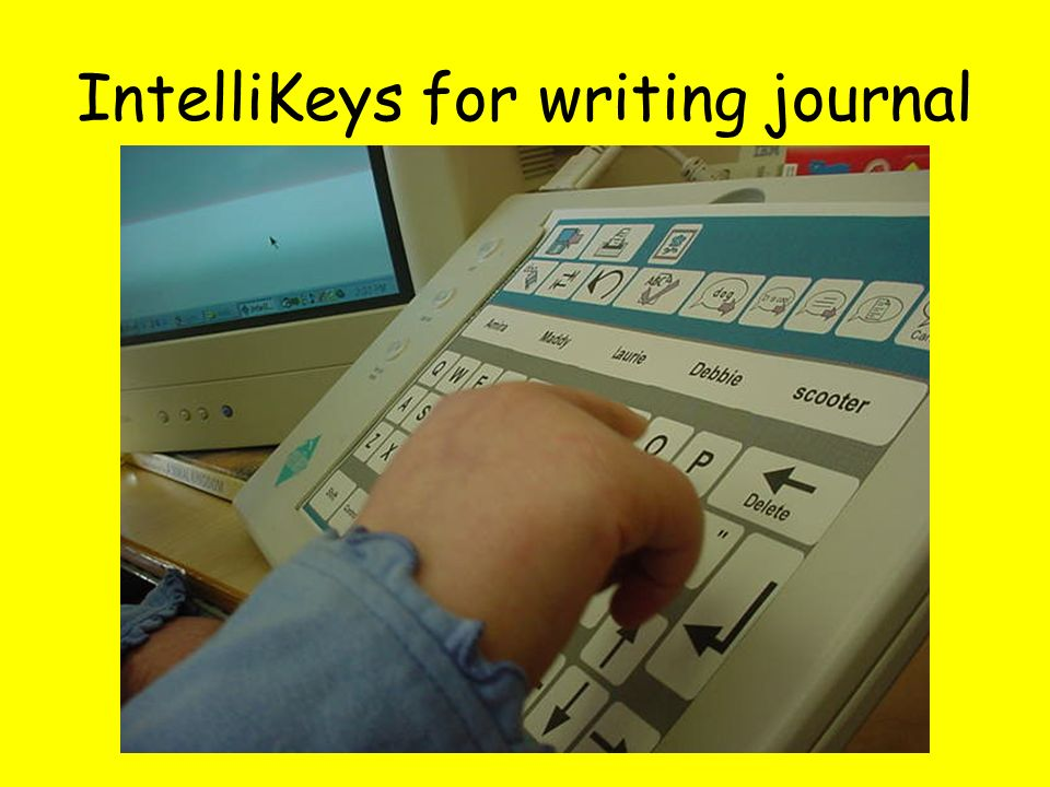 IntelliKeys for writing journal