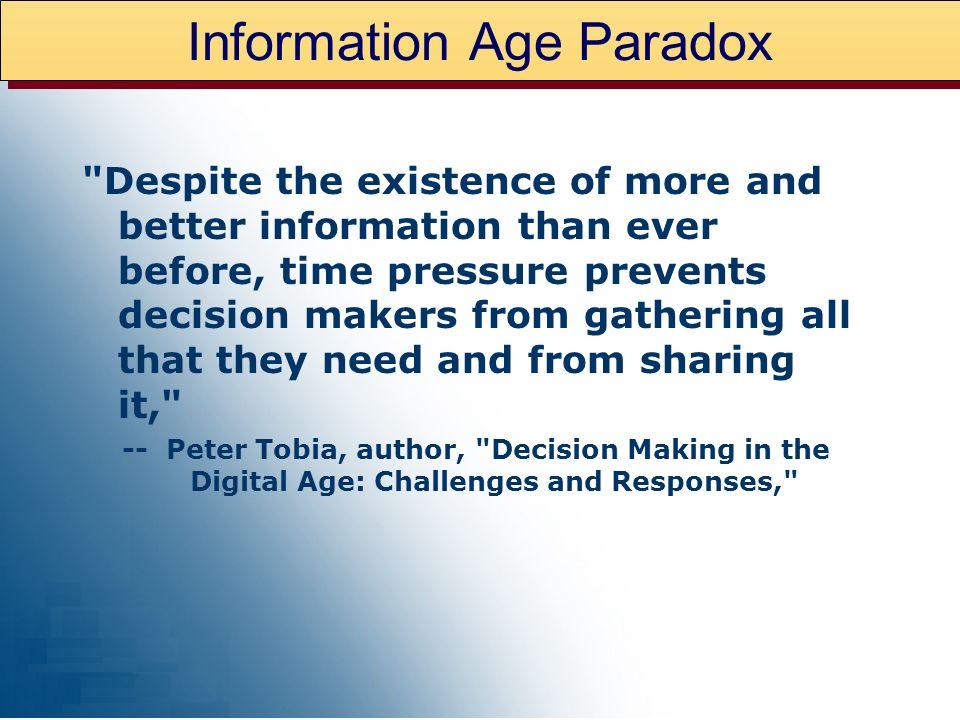 Information Age Paradox