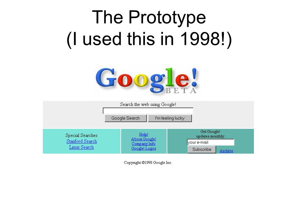 The Prototype (I used this in 1998!)