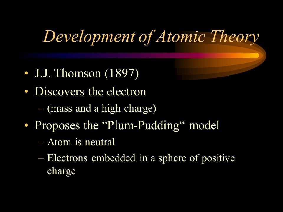 Development of Atomic Theory Dalton (1808) cont.