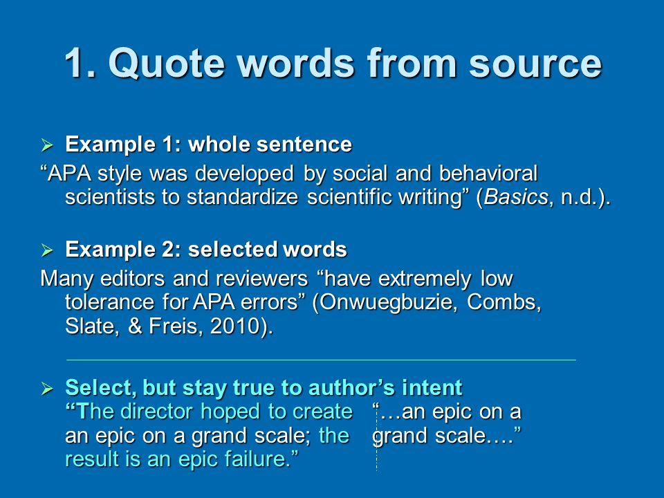 Example 3: 40 words or more Example 3: 40 words or more 1.