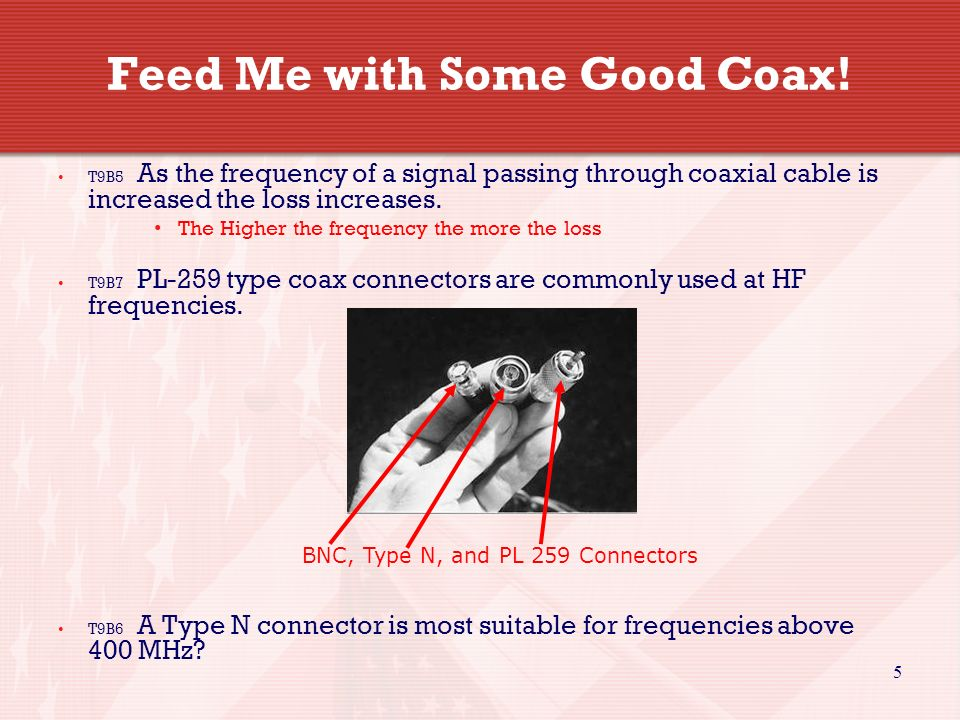 5 Feed Me with Some Good Coax.