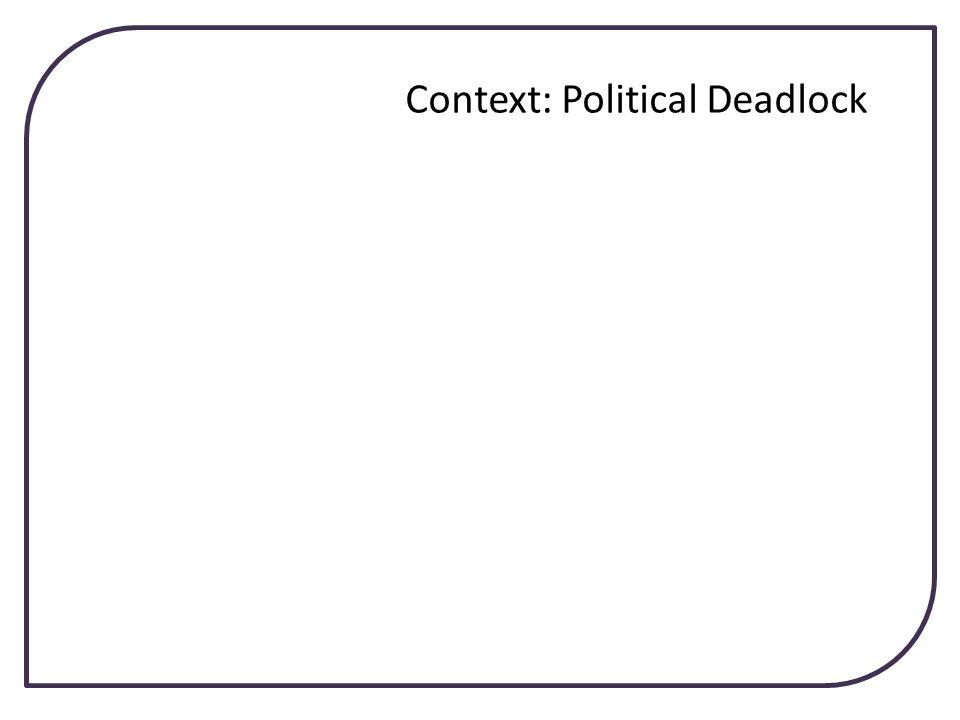 Context: Political Deadlock