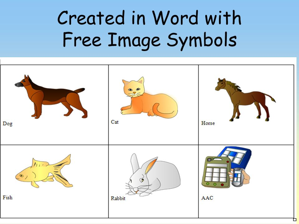 Created in Word with Free Image Symbols