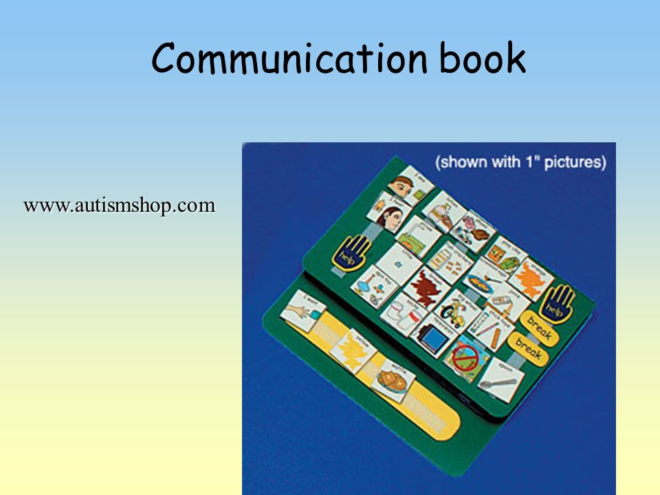 Communication book www.autismshop.com