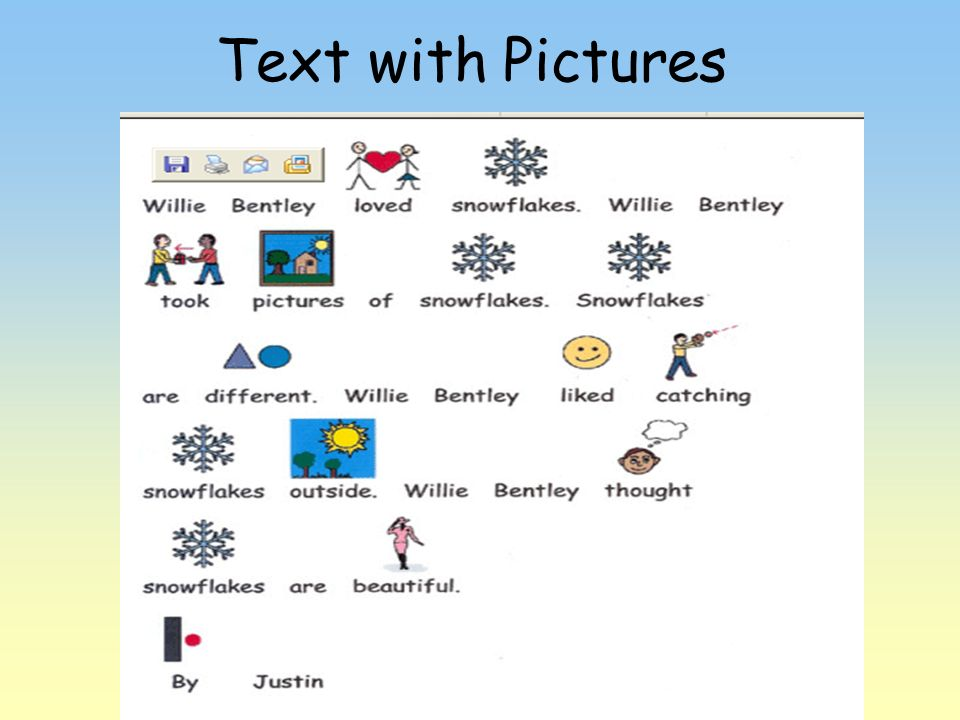 Text with Pictures