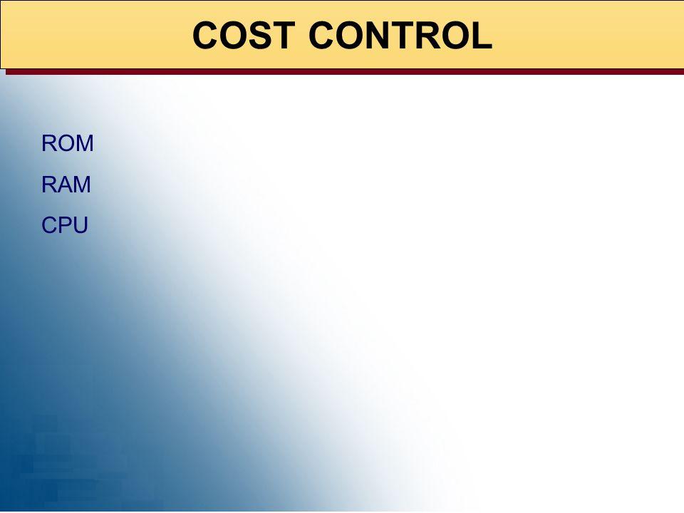 PROJECT COST CONTROL 03/04/2001 PROJECT COST CONTROL 11/28/2001