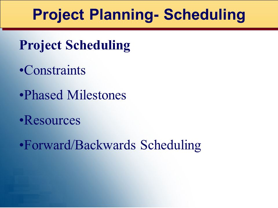Project Planning - Plan Components of Business Project Plan Feasibility Study Business Requirements Definition Detailed Requirements Definition Soluti