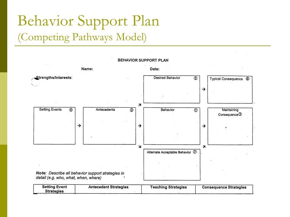 Behavior Support Plan (Competing Pathways Model)