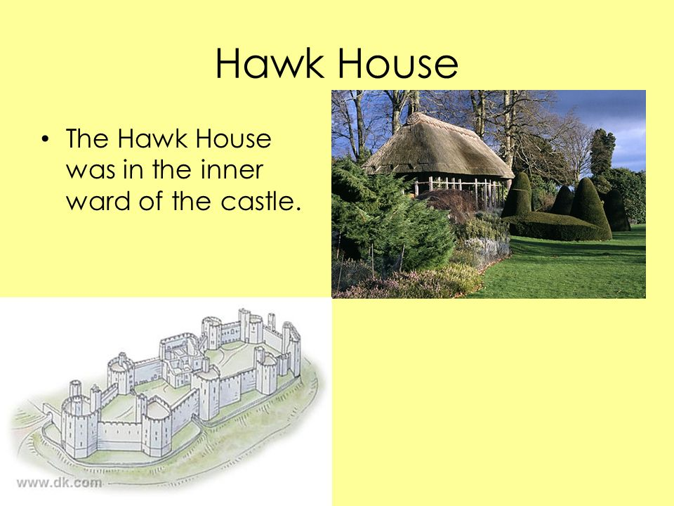 Hawk House The Hawk House was in the inner ward of the castle.