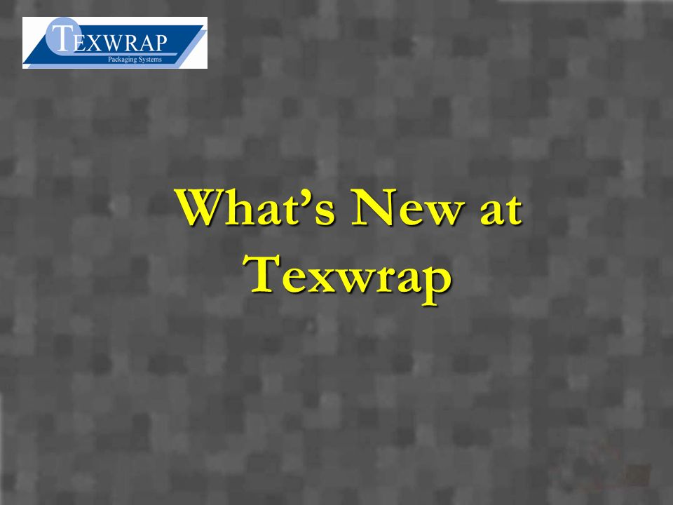 Whats New at Texwrap