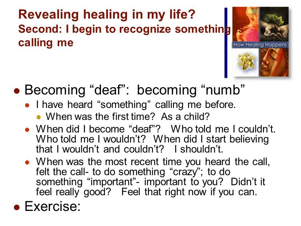 Revealing healing in my life.