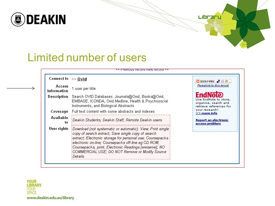 Limited number of users