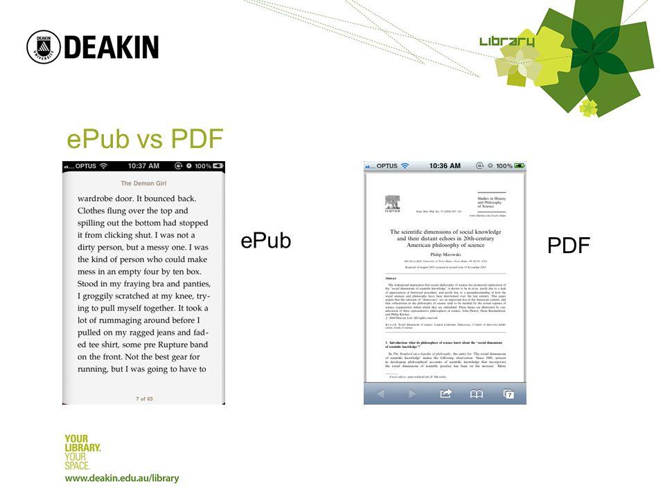 ePub vs PDF ePub PDF