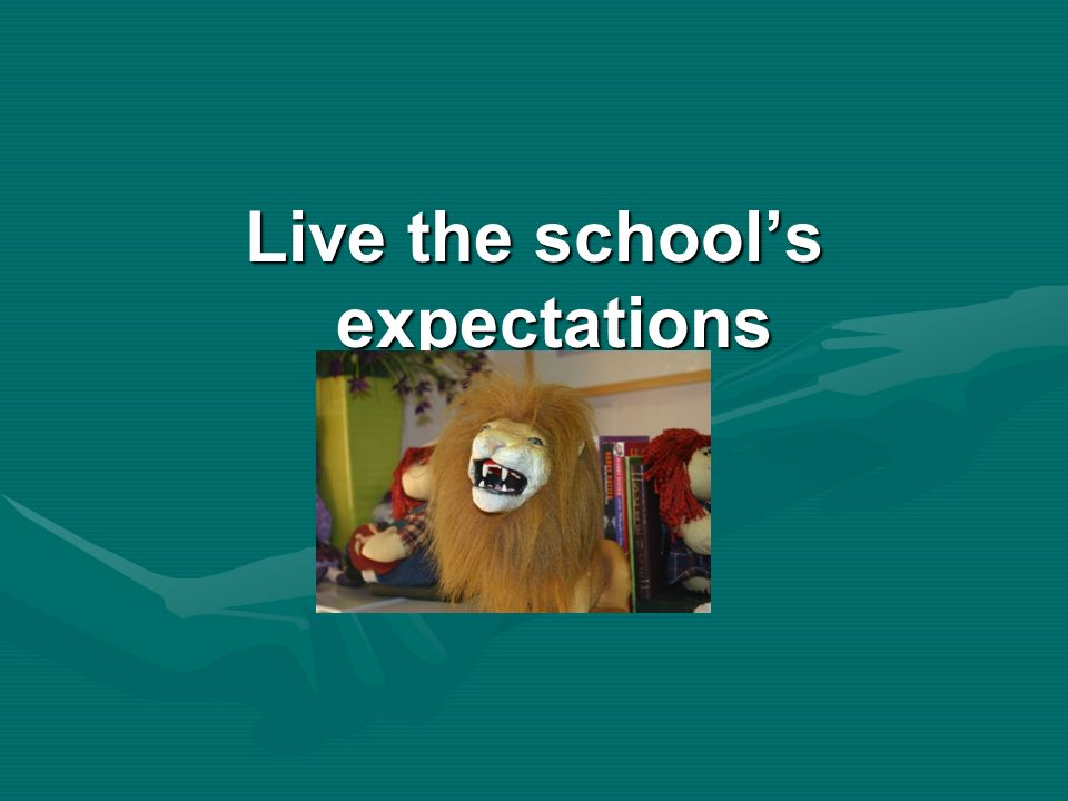Live the schools expectations