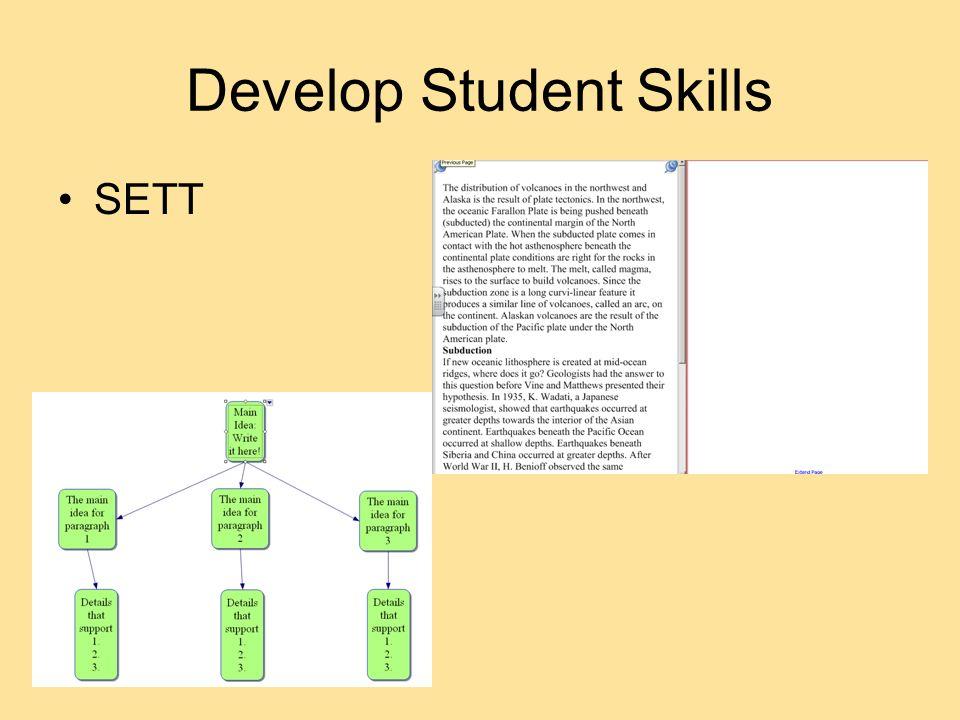 Develop Student Skills SETT
